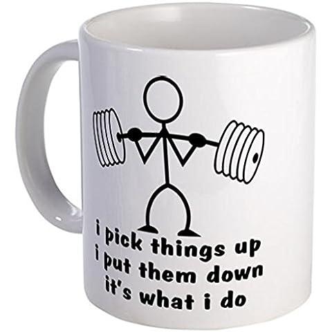 ilieniy Funny mug-stick figure body builder Tazza