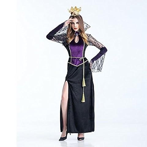 Hirolan Frau Sexy Vampir Hexe Kleid Halloween Cosplay Party Kostüm (XL, Schwarz)