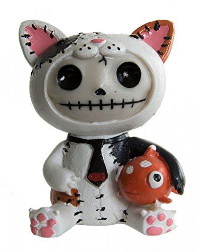 ao Mao Furrybones Figur Katze als Geschenk für Gothic Fans (Süße Katze Gesichter Halloween)