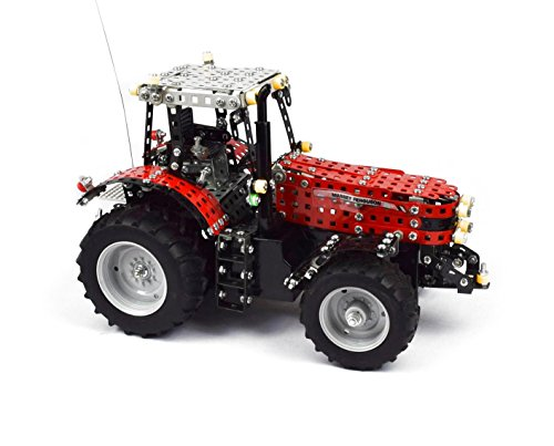 RC Auto kaufen Traktor Bild 4: Tronico 10084 - Metallbaukasten Traktor Massey Ferguson MF-8690 mit Fernsteuerung, Profi Serie, Maßstab 1:16, 726-teilig, rot*