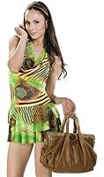 Samantha Look kurzes Sommerkleid rückenfrei grün Polyester Kleid