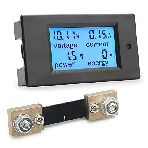 Digital Multimeter, Droking DC Meter 6,5-100V 100A LCD Display Spannung Strom Leistung Energie Tester 12V 24V 36V 48V 60V 72V Voltmeter Amperemeter Volt Amp Meter Watt Detektor mit 100A Strom Shunt