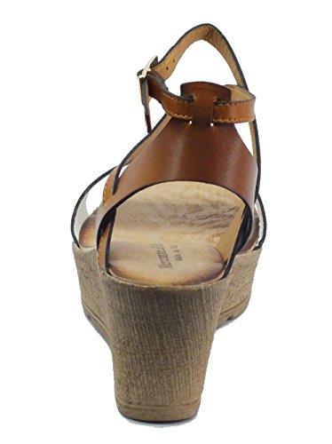 Mercante di Fiori  Omk 45423 Pelle Bianco Cuoio, Sandales pour femme Bianco Cuoio
