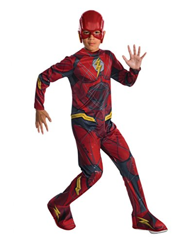 Horror-Shop Justice League Flash Kinderkostüm M (Barry Allen Halloween Kostüm)
