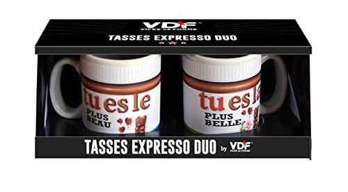 Duo Tasses Expresso tu es le Plus Beau tu es la Plus Belle