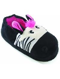 Zapatillas de estar por casa con orejas Modelos Cebra y Oso de peluche para niños niñas
