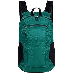 Petit sac à dos de randonnée pliable ultra léger, NEEKFOX Sac à dos de randonnée résistant à l'eau, Hommes femmes enfants sac à dos de voyage pour les sports de plein air camping randonnée à vélo -18L