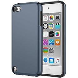 MoKo iPod Touch 2019 7/6 / 5, Coque de Protection Robuste Pare-Chocs TPU Doublé Protection avec Couvercle Arrière Étui Housse pour Apple iPod Touch de 7ème / 6ème / 5ème Génération, Bleu Saphir
