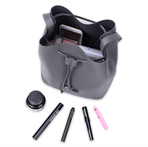 Damen Casual Messenger Bag Open Eimer Tasche PU Schulter Tasche Handtaschen Einfache Stilvolle Geldbörse (vier Farben Optional) C
