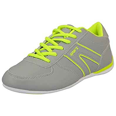 Sparx Women's Running Shoes(SL_78_GREY_FL.GREEN-37)