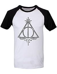 Camiseta de Harry Potter Simbolo de Las Reliquias DE LA Muerte Arte de la Tipografía - Oficial Warner Bros Z7zeKrim8T