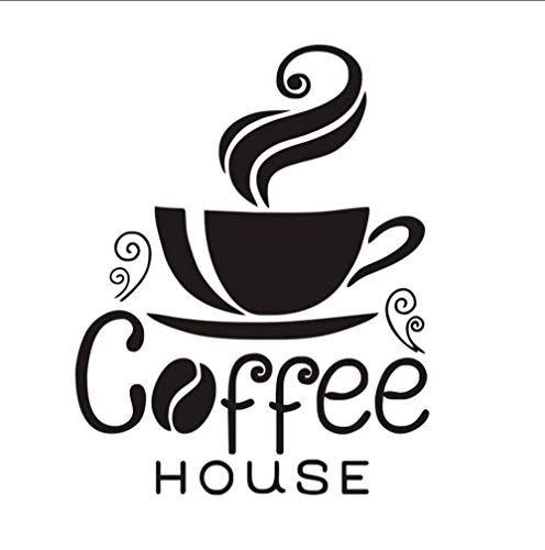 Hutianyu Wandaufkleber Kaffeehaus Worte Kaffeebohnen Abnehmbare Tapete Vinyl Aufkleber Esszimmer Wohnkultur Dropshipping34 Cm X 44 Cm