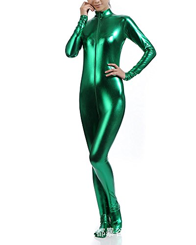 Ganzkörperanzug Anzug Suit Kostüm Shiny Ganzkörperanzug Kostüm Grün XXL