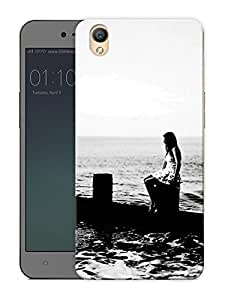 "Humor Gang monochrome beach Printed Designer Mobile Back Cover For ""Oppo A37"" (3D, Matte Finish, Premium Quality, Protective Snap On Slim Hard Phone Case, Multi Color)"