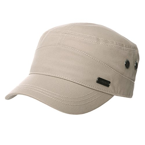 SIGGI Unisex Army Military Cap Baseball Kappe Herren Wandern Beige Fashion Army Cap