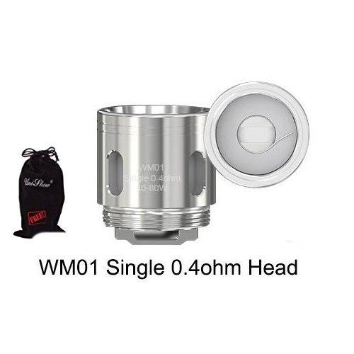Authentic Wismec WM WM01 WM02 WM03 Gen3 Spulen Coils for GNOME Sub-Ohm Tank (5pcs) w/ Free Unishow Pouch (WM01 0.4ohm) (Support Coil)
