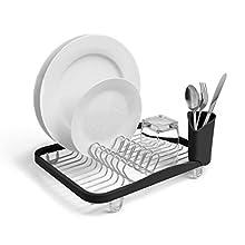 Umbra Sinkin In-Sink Dish Drying Rack, Smoke/Nickel