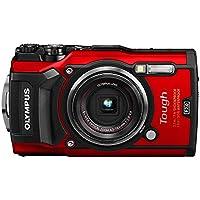 Olympus Tough TG-5 Digitalkamera (12 Megapixel, 25-100mm 1: 2,0 Objektiv, Feld-Sensorsystem, GPS, Manometer, Temperatursensor, Kompass) rot