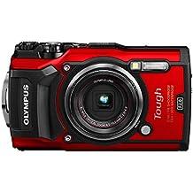 Olympus TOUGH - Cámara digital (ultraresistente, sumergible, Videos en 4K, 4 modos de MACRO, WiFi integrado) color rojo
