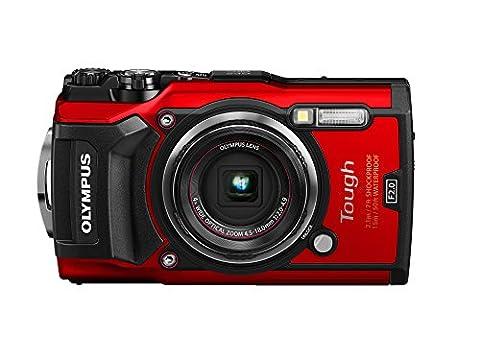 Olympus Tough TG-5 Digital Non-SLR Camera - Red