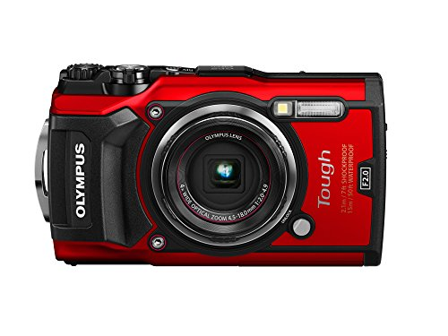 Olympus Tough TG-5 Digitalkamera (12 MP, 25-100 mm 1:2,0 Objektiv, GPS, Manometer, Temperatursensor, Kompass) rot