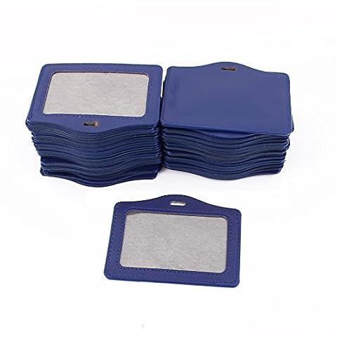 sourcingmap® Bureau école faux cuir affaires horizontales Badge Bleu Porte-carte 50Pcs