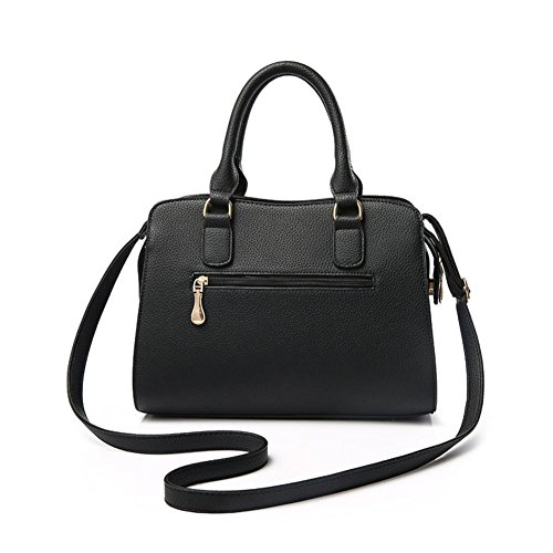 Emotionlin Frauen Damen Handtaschen Faux Designer Shopper Schultertaschen Tote Bag (Red) Rot