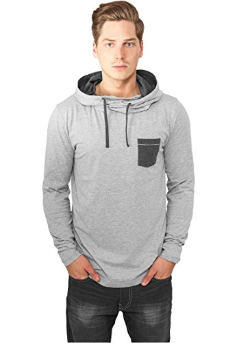 Urban Classics Hoody High Neck Pocket Grey/Charcoal