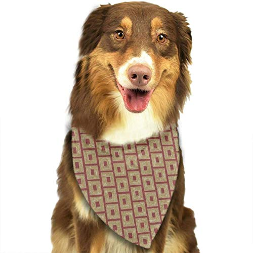 Sdltkhy Golden Square Stripes Pet Bandana Washable Reversible Triangle Bibs Scarf - Kerchief for Small/Medium/Large Dogs & Cats -