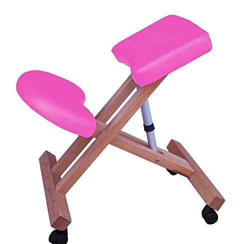 Sedia ergonomica g3s rosa sgabello con ruote per casa o ufficio
