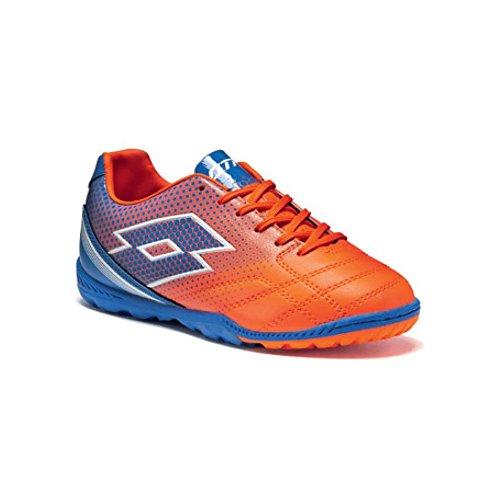 Lotto Spider 700 XIII ID Jr, Chaussures de Football Mixte Bébé Multicolore - Naranja / Azul (Fant Fl / Blu Shv)
