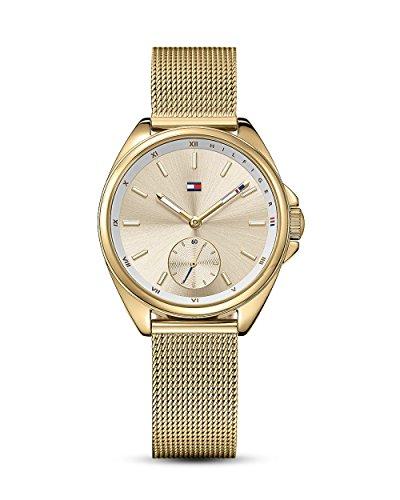 Tommy Hilfiger Damen Analog Quarz Uhr mit Paqué or Armband 1781757
