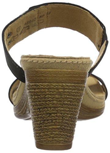 Gabor Damen Offene Sandalen mit Keilabsatz Schwarz (07 schwarz)