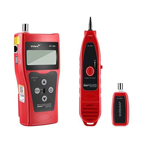 Noyafa NF-308 polyvalent écran LCD réseau téléphonique par câble testeur  Tracker ligne Finder de fil testeur de câble Locator (rouge)