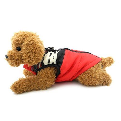 Zunea Gepolsterte Warme Kleine Hund Katze Weste Mantel Jacke Welpe Weste Harness Pet Winter Kleidung Doggie Jumper Chihuahua Overalls Bekleidung Red Skull S Skull Mantel