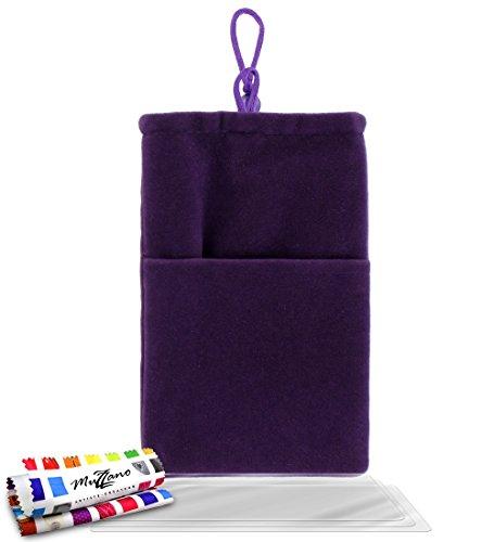 Bumper APPLE IPHONE 5S / IPHONE SE [Le Bumper Colors Premium] [Rosa] von Muzzano + UltraClear Pack 3Display Schutzfolie Transparent mit Stylus/Reinigungstuch für - Das ULTIMATIVE, ELEGANTE UND LANGLE violett + 3 displayschutzfolien