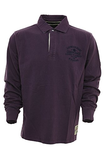 Kitaro Poloshirt Polo Sweat Herren Langarm Grape