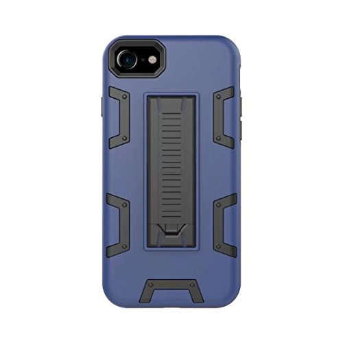 iPhone 8 Hülle, Lantier [Robot Series] Slim Armor Fit Dual Layer Hybrid Protective Case Advanced Shock Absorption Protection High Impact Resistant Hybrid Case with Kickstand für Apple iPhone 8 Schwarz Blau