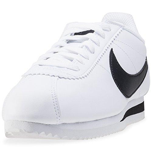 Nike Unisex-Erwachsene Wmns Classic Cortez Leather Turnschuhe Weiß (White / Black-White)