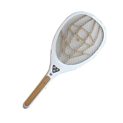 EgoEra reg; Wiederaufladbare Elektrisch USB 1200mah Hand Fliege Moskito Killer, Wespe Pest Bug Insekt Zapper Fliegenklatsche Insektenvernichter Klatsche Fliegenfänger mit 3 LED-Licht