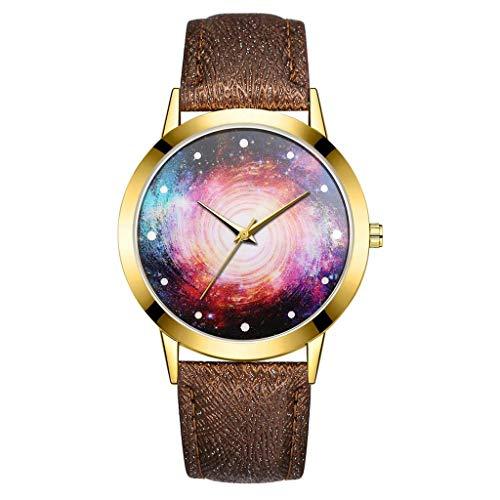 New Trend Armbanduhr Damen Uhr, Frauen Mode Casual Analog Display Quarzuhr, Quarzwerk mit Kunstleder Armband LEEDY -