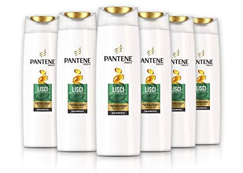 Intensive Anti-schuppen-behandlung Shampoo (Pantene Pro-V Smooth Shampoo Seideneffekt mit Nährstoffen, Packung mit 6 x 250 ml)