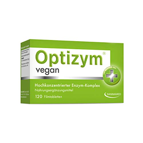 OPTIZYM Vegan Enzym-Komplex I 6-fach Enzyme (Bromelain, Papain, Protease, Lactase, Amylase, Lipase) Hochdosiert digestive Verdauungsenzyme Immunsystem stärken (120 Tabletten)