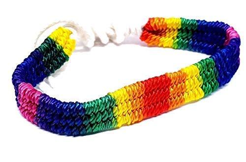 Eclectic Shop Uk Arco Iris Orgullo Gay Macrame LGBT LGBTQ Pulsera de Amistad Playa