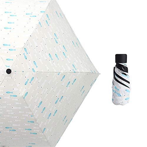 comechen Automatikschirm Winddicht kompakt kompakt und leicht - Stabiler Regenschirm,Sonnenschutz-Taschenschirm schwarzer Kunststoff-Sonnenschirm 50-Fach color16 90cm -