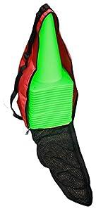 agility sport pour chiens - lot de 20 plots de délimitation 30 cm, couleur : vert clair, contient également: un sac pratique - 20x MK30hg