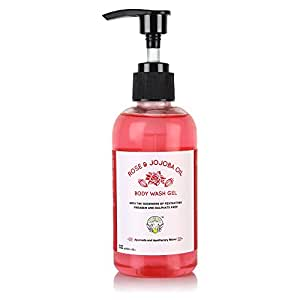 Greenberry Organics Rose and Jojoba Oil Body Wash Gel, 200ml