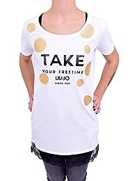 b343ac0470 Liu Jo sport T-Shirt MANICHE Corte Donna T18159-J5003 Primavera Estate