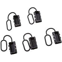 Dolity 5x Cubierta Tapón de Polvo para alta Interconexión de Corriente Telecomunicaciones - Negro