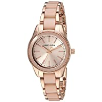 Anne Klein Women's Resin Bracelet Watch Pink/Rose Gold